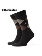 Burlington Edinburgh Sokken Black Mix
