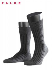 Falke Shadow Wool Sokken Grijs/Zwart