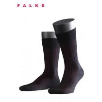 Falke Shadow Wool Chaussettes Noir/Rouge