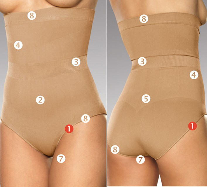 ac00c021e26 Trinny   Susannah Magic Tummy Flattening Bikini Brief Shapewear Silk ...