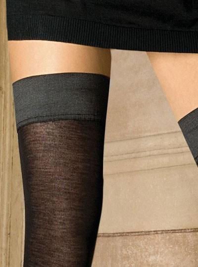 5f7646d36 Trasparenze Jennifer Merino Wool Hold ups Silk in a Box